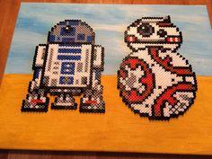R2D2 and BB-8 Star Wars perler beads by bas_jongsma