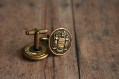 New York Police Cuff Links New York's Finest Cuff Links by AngleAh