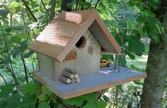 Rustic Country Cabin Birdhouse
