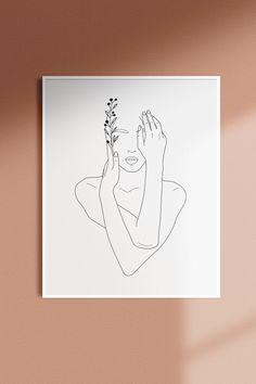 Outline Art, Abstract Line Art, Diy Canvas Art, Arte Pop, Minimalist Art, Gravure, Wall Art Designs, Handmade Art, Line Drawing