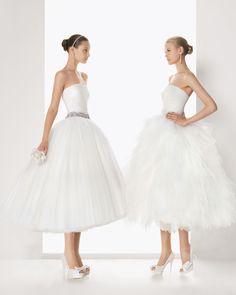 Vestidos de Novia Rosa Clara - Estos modelos son ideales para novias que no desean vestir un diseño clásico - Mas sobre la coleccion 2013 en http://bodasnovias.com/vestidos-de-novia-rosa-clara-2013/3934/ #brides