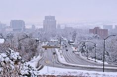 Holy snow. Boise sure is beautiful ❄️❄️