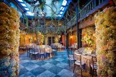 The June 25 American Academy of Hospitality Sciences' Five Star Diamond Awards ceremony took on A Midsummer Night's Dream theme, which saw Benny Ofer of Daniel Events design an enchanted garden with flower-covered stands and hanging grapevines inside the Addison in Boca Raton, Florida.
