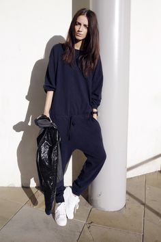 Iris & Ink bomber | Zara knitted jumpsuit | Adidas Superstar II c/o JD Sports | watch c/o Larsson & Jennings