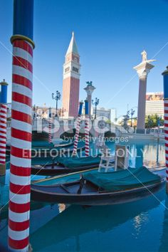 Gondolas at Venice hotel Las Vegas Royalty Free Stock Photo