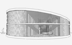 Casa patio circular – blog arquitectura e interiorismo Architecture Concept Diagram, Urban Architecture, Architecture Portfolio, Patio Circular, Round Building, Casa Patio, Clinic Design, Round House, Kitchen Cabinet Design