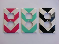 Classy Chevron vinyl plug cover decals by BugzyBoutique on Etsy, $2.25