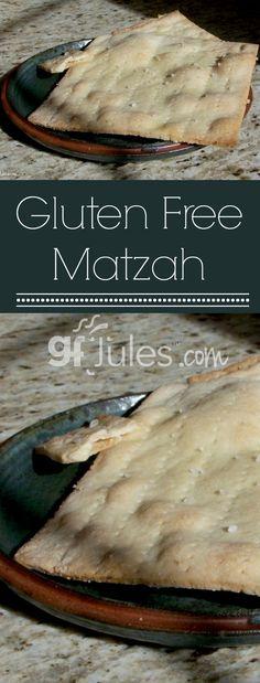 Gluten Free Matzo / Matzah Recipe - gluten free Passover recipe - gfJules - Preparing for Passover? Try this Gluten Free Matzo recipe. These great saltine-like crackers are wo - Passover Recipes, Jewish Recipes, Passover Meal, Seder Meal, Best Gluten Free Recipes, Gluten Free Soda Cracker Recipe, Gluten Free Communion Bread Recipe, Gluten Free Unleavened Bread Recipe, Gluten Free Snacks