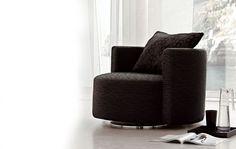 Karisma zajímavé černé křeslo do obývacího pokoje / living room armchair