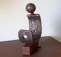 Arte en hierro oxidado