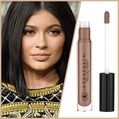 """Anastasia Beverly Hills Gloss (Worn by Kylie) This color is worn by Kylie Jenner so it's very popular. NEW IN UNOPENED BOX Anastasia Beverly Hills in """"Undressed"""": This ultra-smooth, weightless formula combines the intensity of a stain with the mirror-like shine of a gloss. The flat, sponge-tip applicator delivers multi-dimensional pigment neatly and precisely. Wear alone or layered over Liquid Lipstick.   FREE BNWT BROW LINER INCLUDED/COLOR CHOCOLATE Anastasia Beverly Hills Makeup Lip Balm…"""