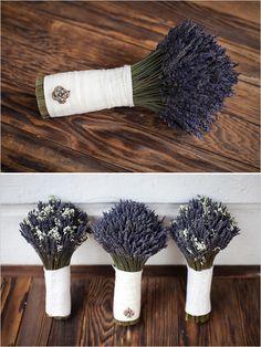 lavendar bouquets by Faye Marie