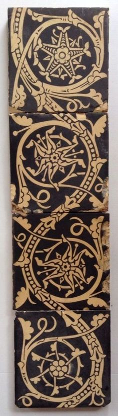 Tile Panel Designed By Christopher Dresser and Made By Godwin #Gothic
