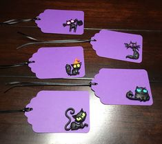 Black Cats Tags | Paper Cat Tags | Halloween Cats Custom Birthday Decor | Cat Lover Gift Favor Tags | Spooky Cats Goodie Bag Tag-5/order Cat Lover Gifts, Cat Lovers, Cat Tags, Halloween Cat, Goodie Bags, Black Cats, Favor Tags, Birthday Decorations, Embellishments