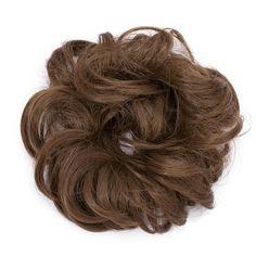 Rose Bun Hair Scrunchie-Light Brown - New Ideas Messy Bun Curly Hair, Curly Bun Hairstyles, Chignon Hair, Hair Buns, Short Hair, Bun Updo, Messy Buns, Hairdos, Headband Hairstyles