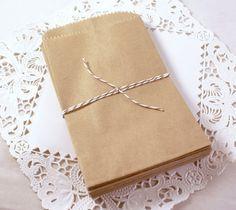 Bolsas de papel Kraft pequeño marrón 50 3 1/2 x 5 3/4 pulgadas