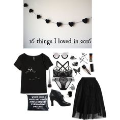 16 Things I Loved in 2016 by ghoulnextdoor on Polyvore featuring Samantha Pleet, Lonely, Topshop, John Fluevog and Kat Von D