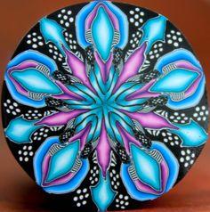 LARGE Polymer Clay Kaleidoscope Cane 'Nebula' series by ikandiclay