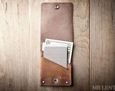 Thin Wallet, Card Wallet, Snap Wallet, Minimal Wallet,  Jasper 010