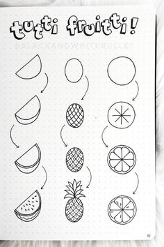 Kreativ: Doodles 25 Best Step By Step Food Doodles For Your Bujo Crazy Laura Doodle Art Bujo Crazy doodle art Doodles Food Kreativ LAURA Step Easy Doodles Drawings, Easy Doodle Art, Cute Easy Drawings, Easy Art, Simple Art, Easy Drawing Designs, How To Draw Doodle, Drawing Ideas Kids, Things To Doodle