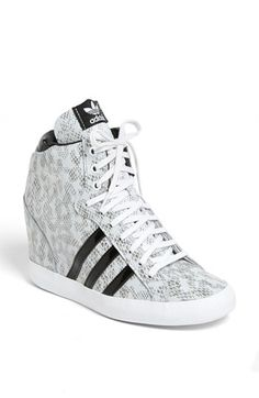 And now @adidas enters the wedge sneaker arena with a serpent's hiss: Women's adidas 'Basket Profi' Hidden Wedge Sneaker in White/Black via @Nordstrom