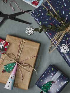 869697d88f84d Our go-to wrapping style this Christmas features confetti prints, navy  tones and cuter