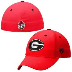 Georgia Bulldogs Top of the World Dynasty Memory Fit Fitted Hat – Red - $22.39