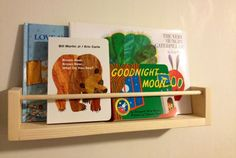 Set of 4 ....Ikea Look Alike Wooden Spice Rack,Nursery Book Shelf,Bath Storage. $30.00, via Etsy.