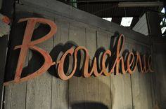 "French Zinc Butchery sign c.1950 "" Boucherie"""