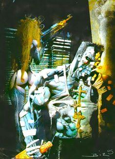 Marv (Sin City) by Simon Bisley Simon Bisley, Comic Book Artists, Comic Artist, Comic Books Art, Illustrations, Illustration Art, Sin City Comic, Frank Miller Art, Alternative Comics