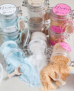 Everyone struggles at least a little bit trying to come up with ideas for unique bridal shower favors. This detailed tutorial will teach you how to make bath salts using only a few simple ingredients and the oven.