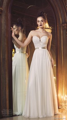 PALOMA BLANCA fall 2016 bridal strapless sweetheart neckline heavily embellished bodice sexy romantic a  line wedding dress open back sweep train (4707) mv #bridal #wedding #weddingdress #weddinggown #bridalgown #dreamgown #dreamdress #engaged #inspiration #bridalinspiration #weddinginspiration #weddingdresses