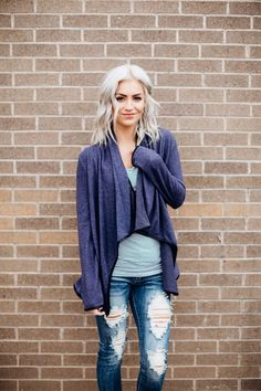 Draped Cardigan - Obsessions Boutique