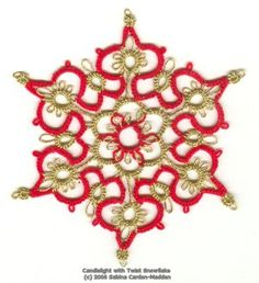 Tatting: Candlelight Snowflake, Original Design by Sabina Carden-Madden  ©Paradise Treasures, November 2006