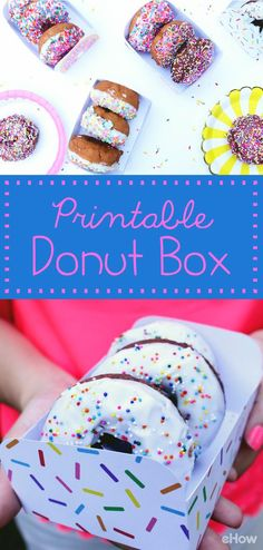 Whip up some yummy donuts at your next party, pass out a fresh batch as a gift or simply eat some for breakfast, and create this colorful box to serve them in. All you need is card stock and our free printable template to make it happen. This box is the perfect size for these treats, and it can double as a plate! http://www.ehow.com/how_12343418_give-love-donuts-printable-box.html?utm_source=pinterest.com&utm_medium=referral&utm_content=freestyle&utm_campaign=fanpage
