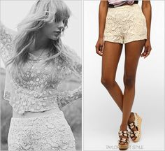 RED album photoshoot | October 2012 Urban Outfitters 'Mariposa Short' - no longer available