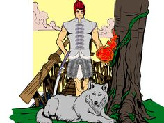 Kirai, a firedemon, one of the charackter designs for the webstory 7runes.