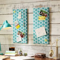 groovy pin board for inspirations, goals, to do's, etc.  Basically just a board covered in fabric!  I want to make one!