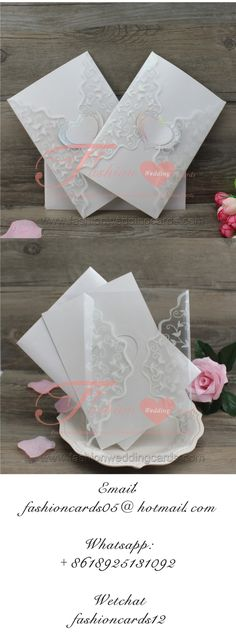 Clear PVC Plastic Material Design Fancy Flower Glitter Wedding Inviations with Heart Cheap Wedding Invitations, Wedding Stationery, Glitter Wedding, Plastic Material, Material Design, Special Day, Wedding Cards, Wedding Styles, Fancy