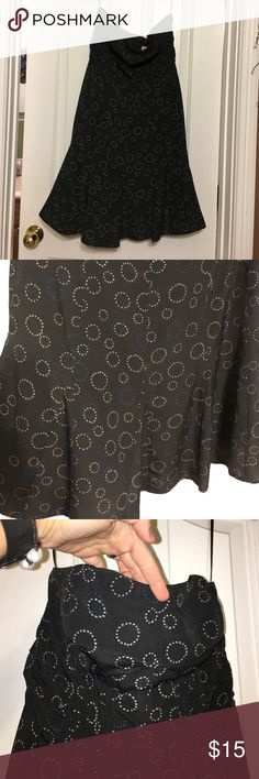 American eagle knee length Dress EUC, gray with white/blue circle print American Eagle Outfitters Dresses