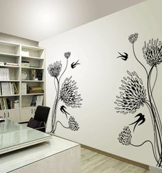 This beautiful MUMS and SWALLOWS decal comes in for easy install. Just peel and stick. Size: 29 in. wide x 60 in. high Color: Choose from Removable Vinyl Wall Decals, Wall Stickers, Big Mum, Bedroom Decor, Wall Decor, Cleaning Walls, Mural Wall Art, Easy Install, Dream Rooms