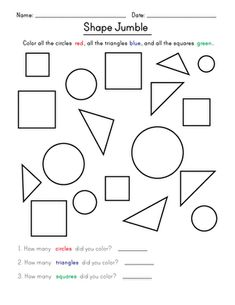 Kindergarten shapes worksheets will make your child a shapes expert. Help your kindergartener become a star with these shapes worksheets. Shape Tracing Worksheets, Shapes Worksheet Kindergarten, Matching Worksheets, Shapes Worksheets, Preschool Math, Kindergarten Worksheets, Worksheets For Kids, Basic Shapes, Triangles