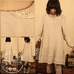 Forest Girls $14.50 Y89 PURCHASE REVIEW: is a little potato sackish but overall good, eyelet starts pretty high so the dress has to be worn with leggings or an underskirt