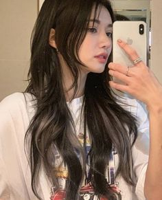 Dye My Hair, New Hair, Hair Inspo, Hair Inspiration, Korean Hair Color, Hair Korean Style, Korean Medium Hair, Korean Long Hair, Haircuts Straight Hair