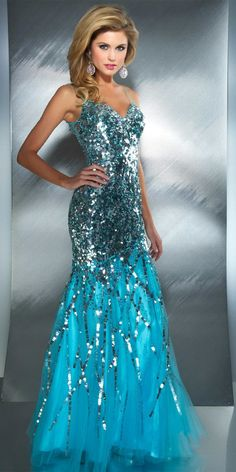 Mac Duggal Dazzling Mermaid Dress (85094M)