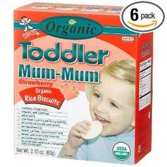 Hot Kid Organic Toddler Mum-Mum Strawberry Flavor Rice Biscuit, 24-Count  Box(Pack of 6) --- http://www.pinterest.com.welik.es/5q6