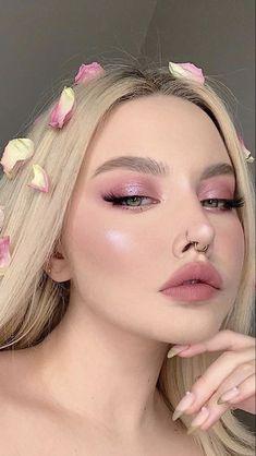 Edgy Makeup, Glam Makeup Look, Pink Makeup, Cute Makeup, Gorgeous Makeup, Pretty Makeup, Makeup Art, Formal Makeup, Beauty Makeup