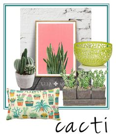 """""""Cactus"""" by janew455 ❤ liked on Polyvore featuring interior, interiors, interior design, home, home decor, interior decorating, The French Bee, Alessi, succulents and cacti"""