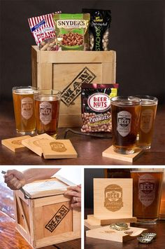 """Dad is going to love the Personalized Barware Crate.  It'll look amazing on the counter of my dad's """"home bar"""" especially for Father's Day   ManCrates"""