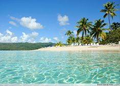 Dominican Republic, Playa Rincon, Samana Beaches - There's plenty of color in the sea -- vivid turquoise, blues, and greens that are safe for swimming and ideal for snorkeling.  #resortime